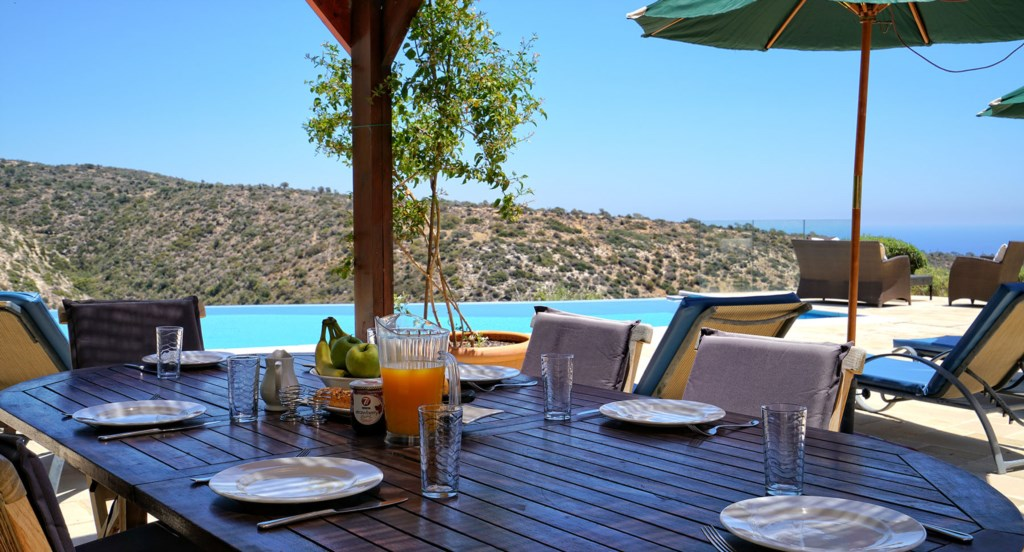 Villa 247 - Al fresco dining with a view. Aphrodite Hills Resort, Cyprus.