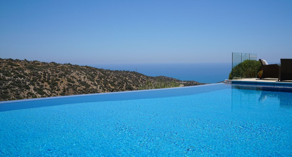 Villa 247 - Relax and enjoy the views from the pool side. Aphrodite Hills Resort, Cyprus.