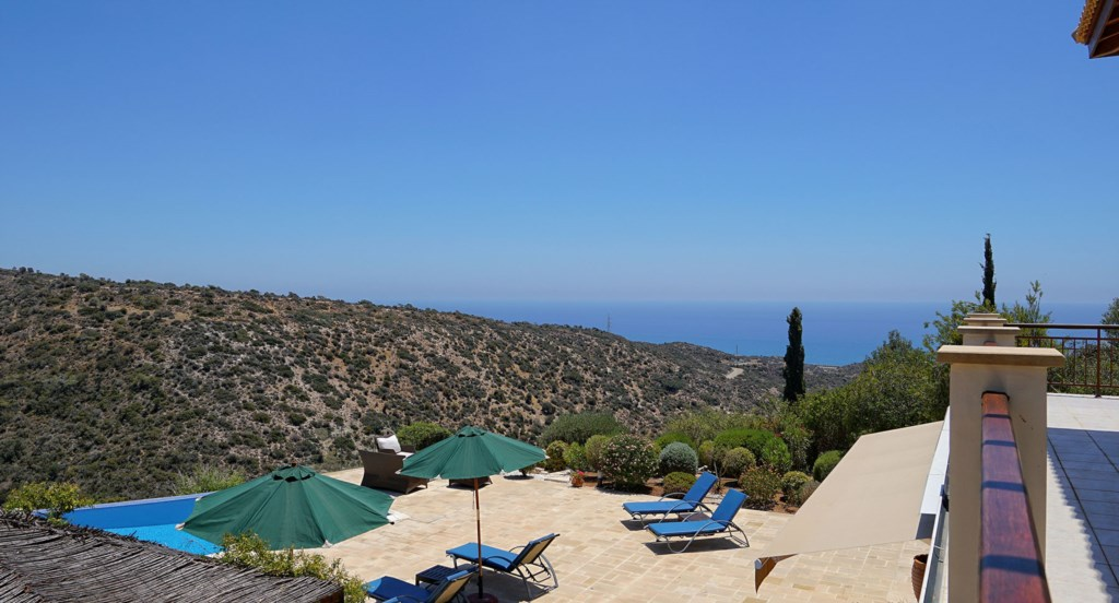 Villa 247 - Views from the top floor balcony. Aphrodite Hills Resort, Cyprus.