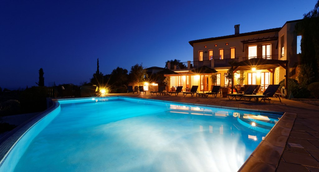 Villa 247 - Enjoy a night time dip in your private pool. Aphrodite Hills Resort, Cyprus.