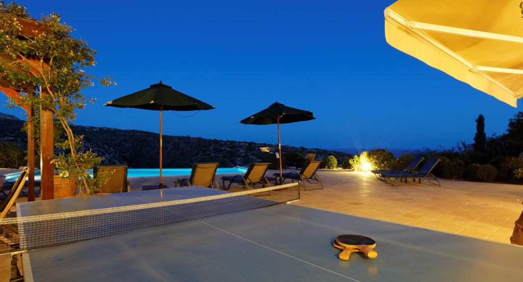 Villa 247 - Lit up beautifully at night. Aphrodite Hills Resort, Cyprus.