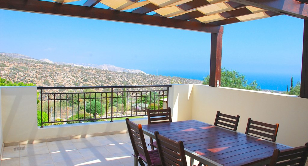 Villa 252 - Top double room balcony with gorgeous views. Villa 252 - Separate living area. Aphrodite