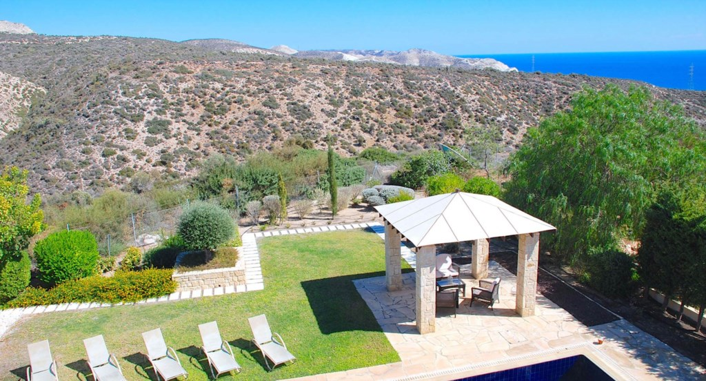 Villa 252 - Views of the garden and beyond. Aphrodite Hills Resort, Cyprus.