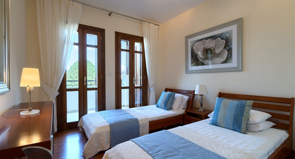 Apartment DD12 - bedroom. Aphrodite Hills Resort, Cyprus.