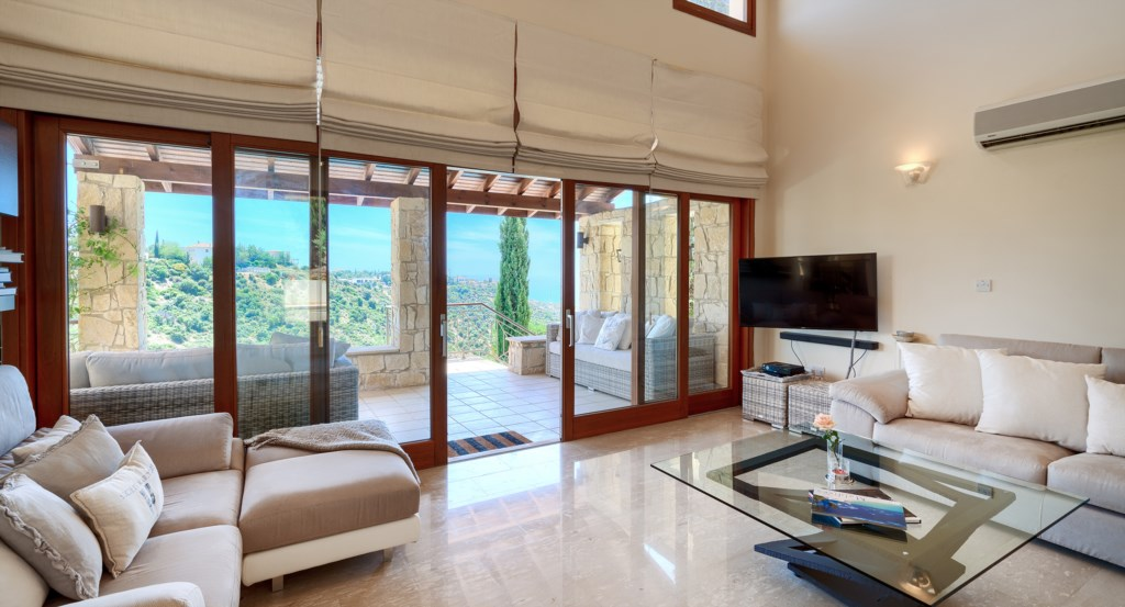 Villa 82 - stunning 4 bedroom villa with amazing sea views and private pool, Aphrodite Hills Resort,