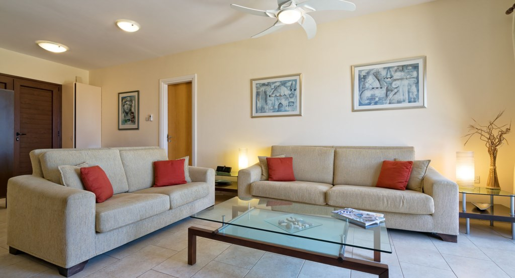Apartment E11 - Comfortable living area. Aphrodite Hills Resort, Cyprus.