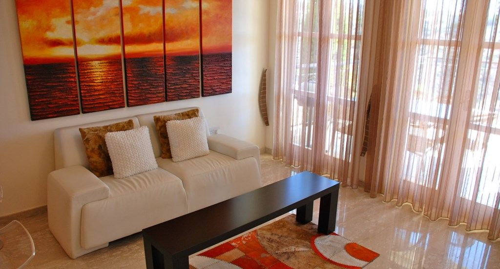 Open plan living area - G3 Adonis Village - Aphrodite Hills apartment