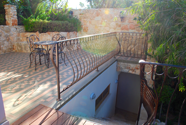 Villa 305 - Stairs leading to the separate 'granny annexe' room. Aphrodite Hills Resort, Cyprus.