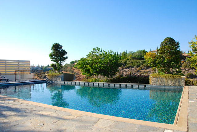 Villa 305 - Enjoy the lovely ravine views from the poolside. Aphrodite Hills Resort, Cyprus.