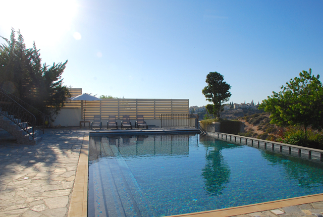 Villa 305 - Afternoon sun on the pool. Aphrodite Hills Resort, Cyprus.
