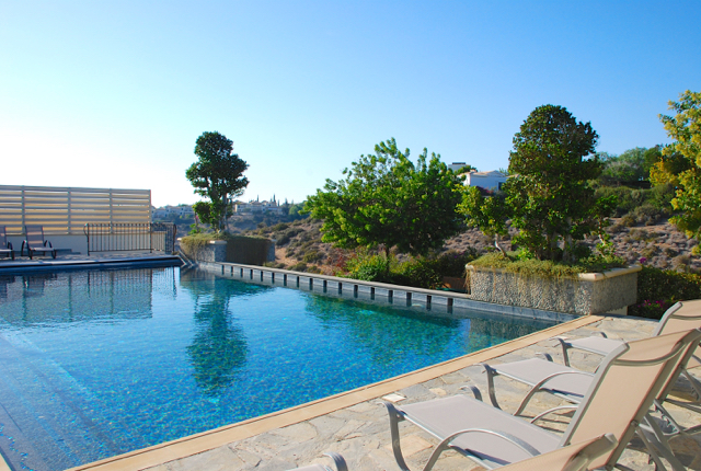 Villa 305 - Soak up the sunshine on the pool terrace. Aphrodite Hills Resort, Cyprus.