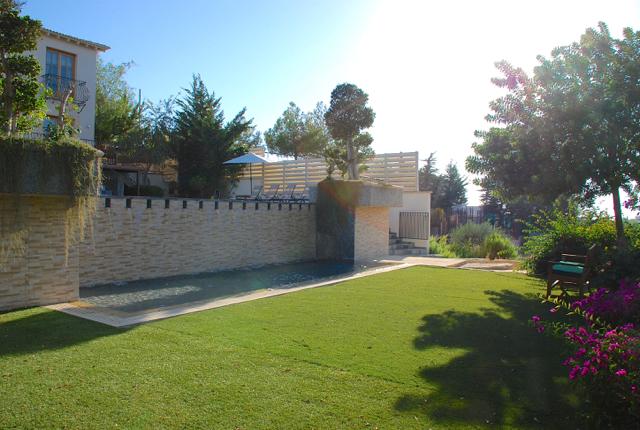Villa 305 - The peaceful garden is lovely for children. Aphrodite Hills Resort, Cyprus.