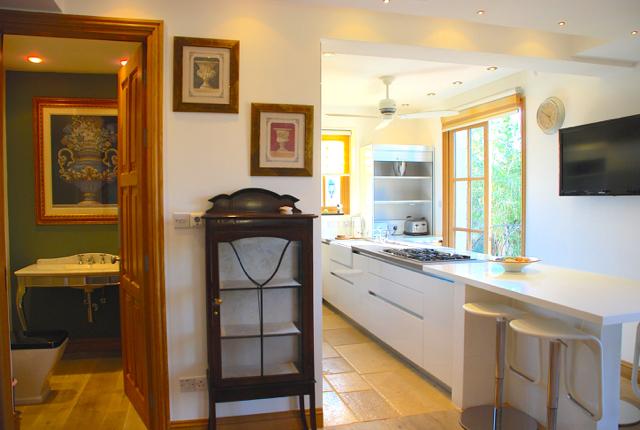 Villa 305 - Ground floor WC and kitchen. Aphrodite Hills Resort, Cyprus.