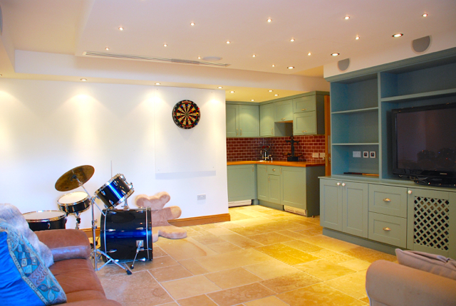 Villa 305 - Lower level play lounge with kitchen unit. Aphrodite Hills Resort, Cyprus.