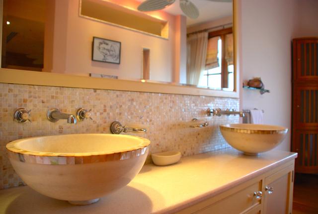 Villa 305 - Master bedroom stunning bath area. Aphrodite Hills Resort, Cyprus.
