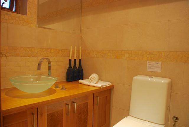 Villa 305 - Annexe double room en suite bathroom, with shower. Aphrodite Hills Resort, Cyprus.