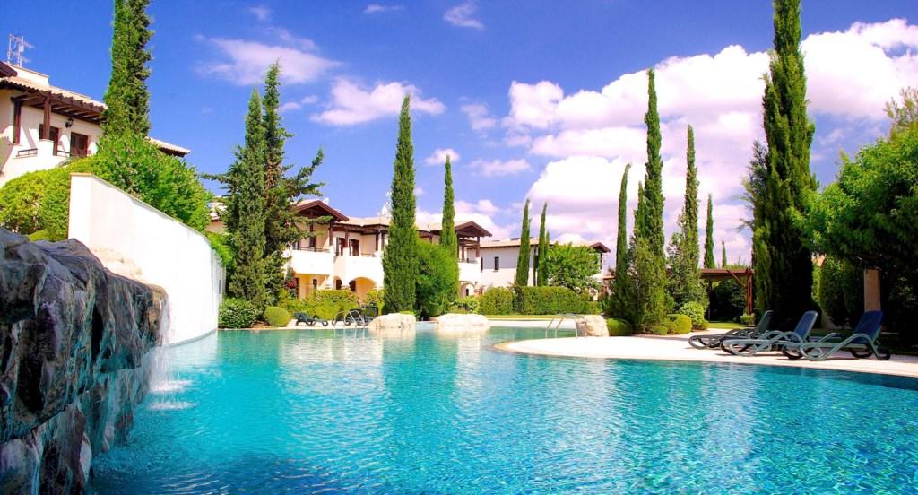 Apartment Helena - The beautiful communal pools on Helios Heights. Aphrodite Hills Resort, Cyprus.