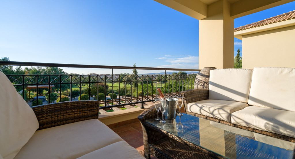 Villa 24 - Large upper terrace with golf and sunset views. Aphrodite Hills Resort, Cyprus.