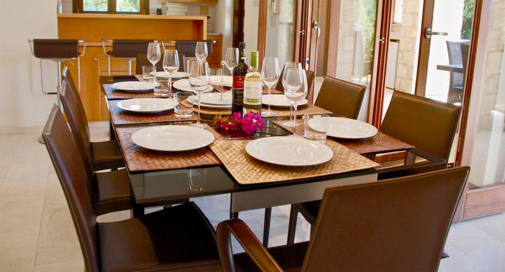 Villa 230 -  Spacious open plan dining area. Aphrodite Hills Resort, Cyprus.