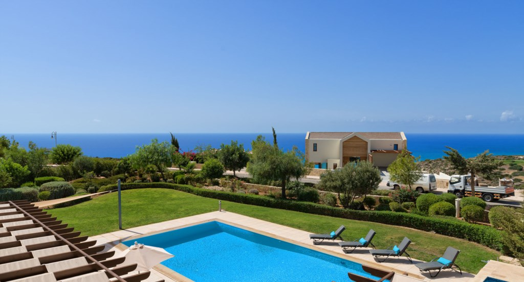 Villa 350 - Breathtaking Sea Views from the rooftop terrace.  Aphrodite Hills Resort, Cyprus.