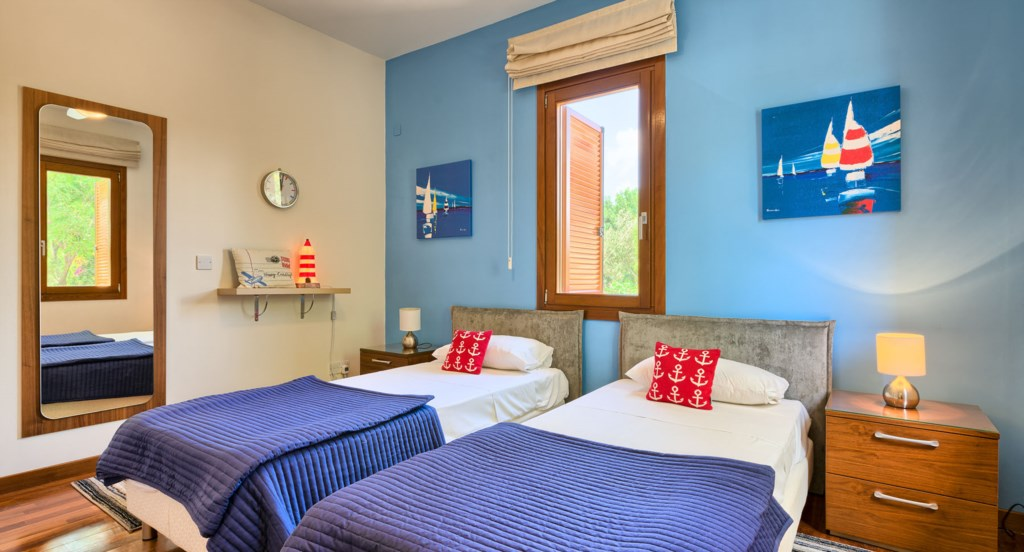 Villa 350 - Charming twin room with nautical theme - great for kids. Aphrodite Hills Resort, Cyprus.