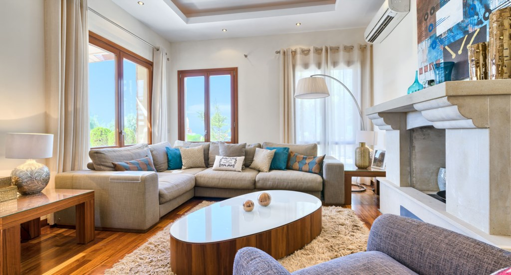 Villa 350 - Opulently furnished interiors throughout.  Aphrodite Hills Resort, Cyprus.