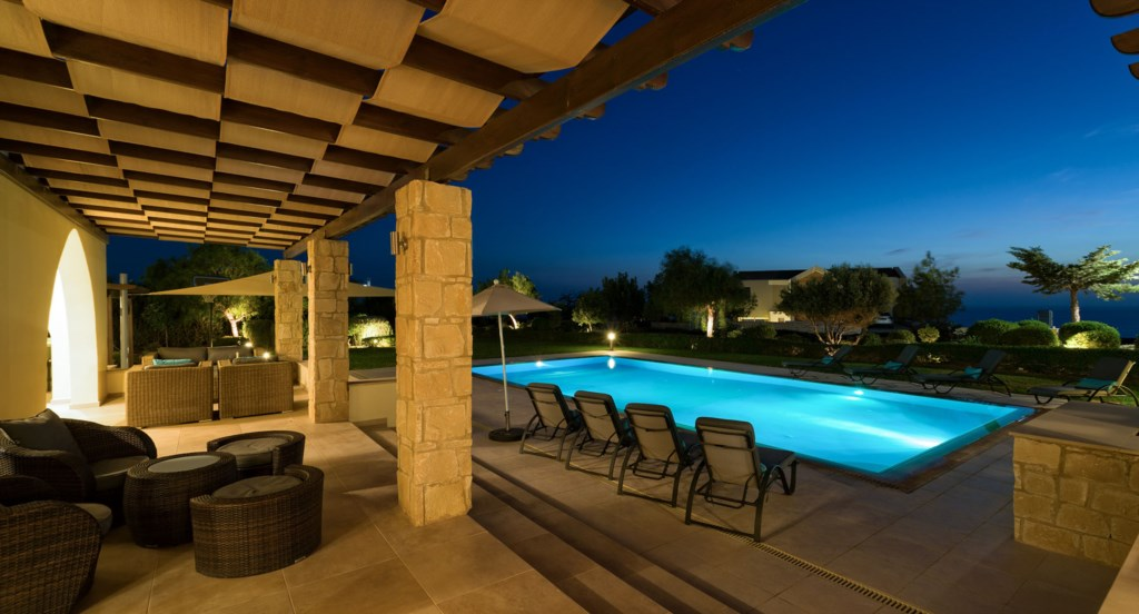 Villa 350 - Enjoy a sun downer. Aphrodite Hills Resort, Cyprus.