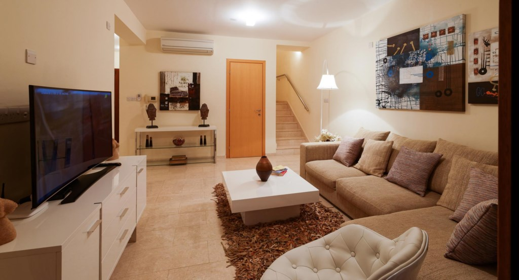 Villa Iremos (TH02) 2 bedroom luxury holiday rental villa with stunning sea views Aphrodite Hills Re