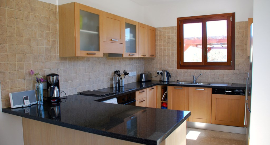 Villa 122 - Kitchen with all the mod cons including dishwasher, coffee machine. Aphrodite Hills Reso