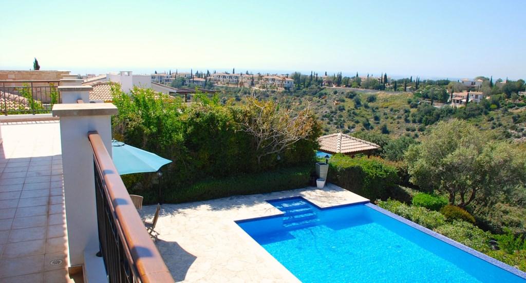 Villa 122 - Views from the master bedroom doors.  Aphrodite Hills Resort, Cyprus.