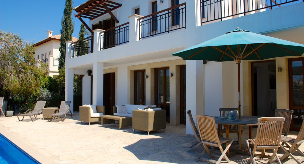 Villa 122 - Plenty of outside seating and sunbathing areas. Aphrodite Hills Resort, Cyprus.
