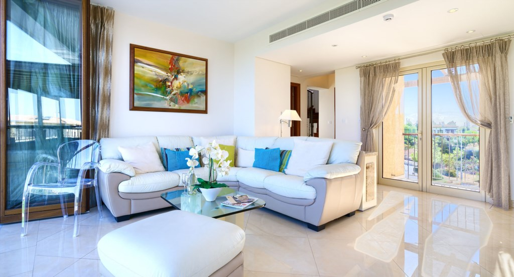 Living room - Villa 141 - Luxury Holiday Rentals in Aphrodite Hills Cyprus