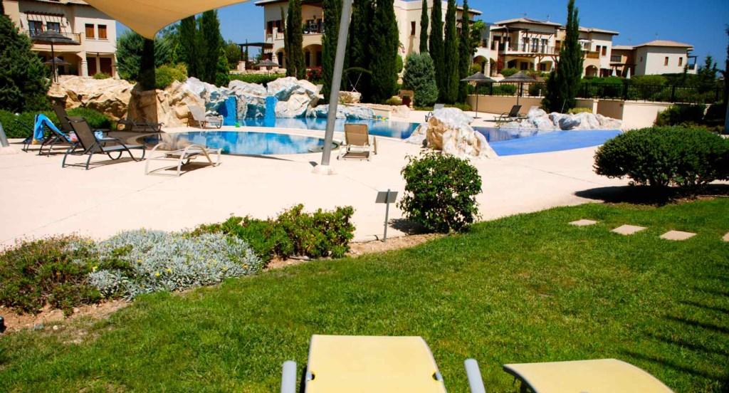 Apartment Atropos (BE01), ground floor holiday apartment communal pool, Aphrodite Hills Resort, Cypr