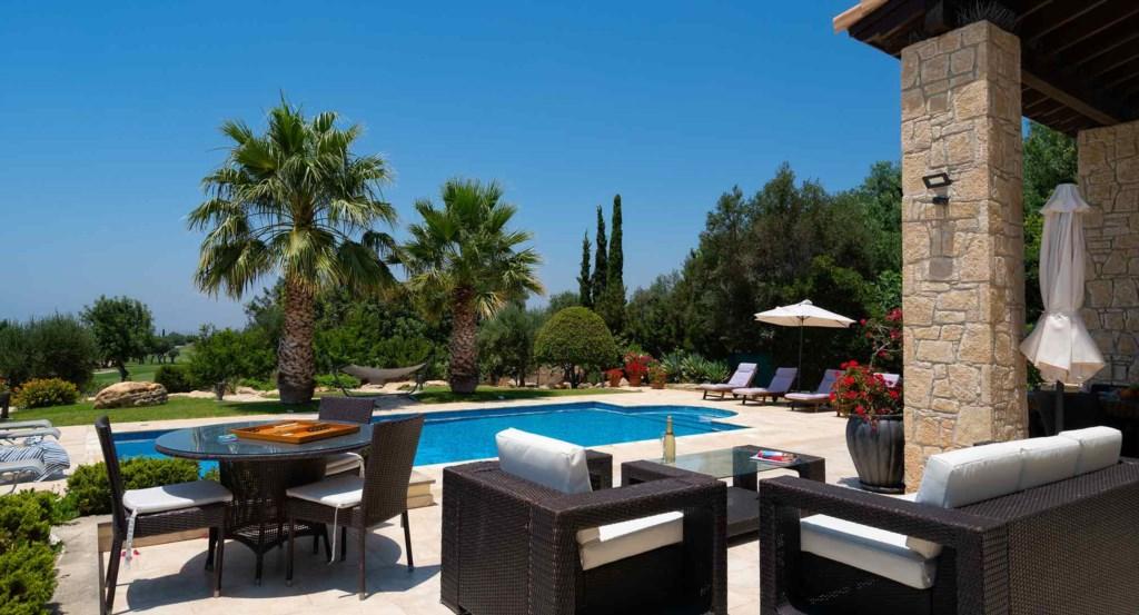 Villa Lofou (ref 148), stunning holiday rental villa, golf sea views, Aphrodite Hills Resort, Cyprus