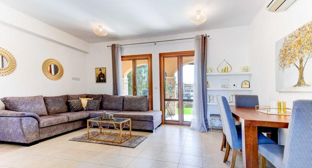 2. Luxury holiday apartment Aphrodite Hills Resort Cyprus_Living Room.jpg