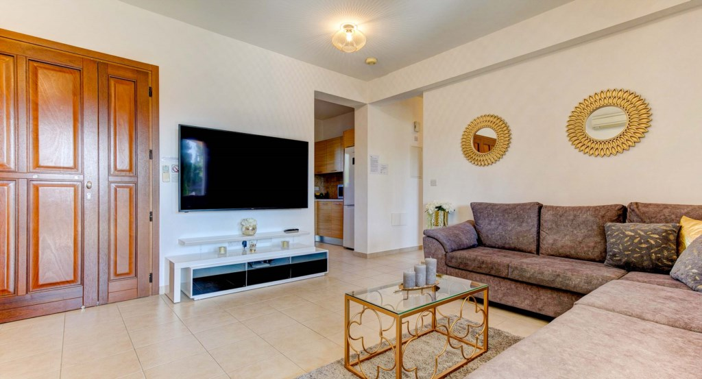 5. Luxury holiday apartment Aphrodite Hills Resort Cyprus_Living Room 5.jpg