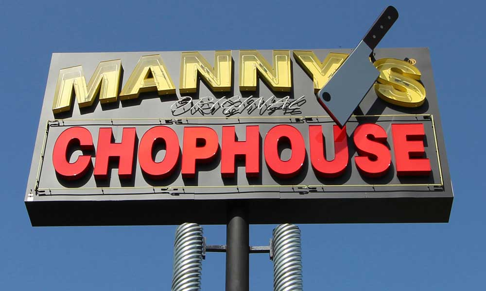 The Famous Mannys Chop House on Highway 192