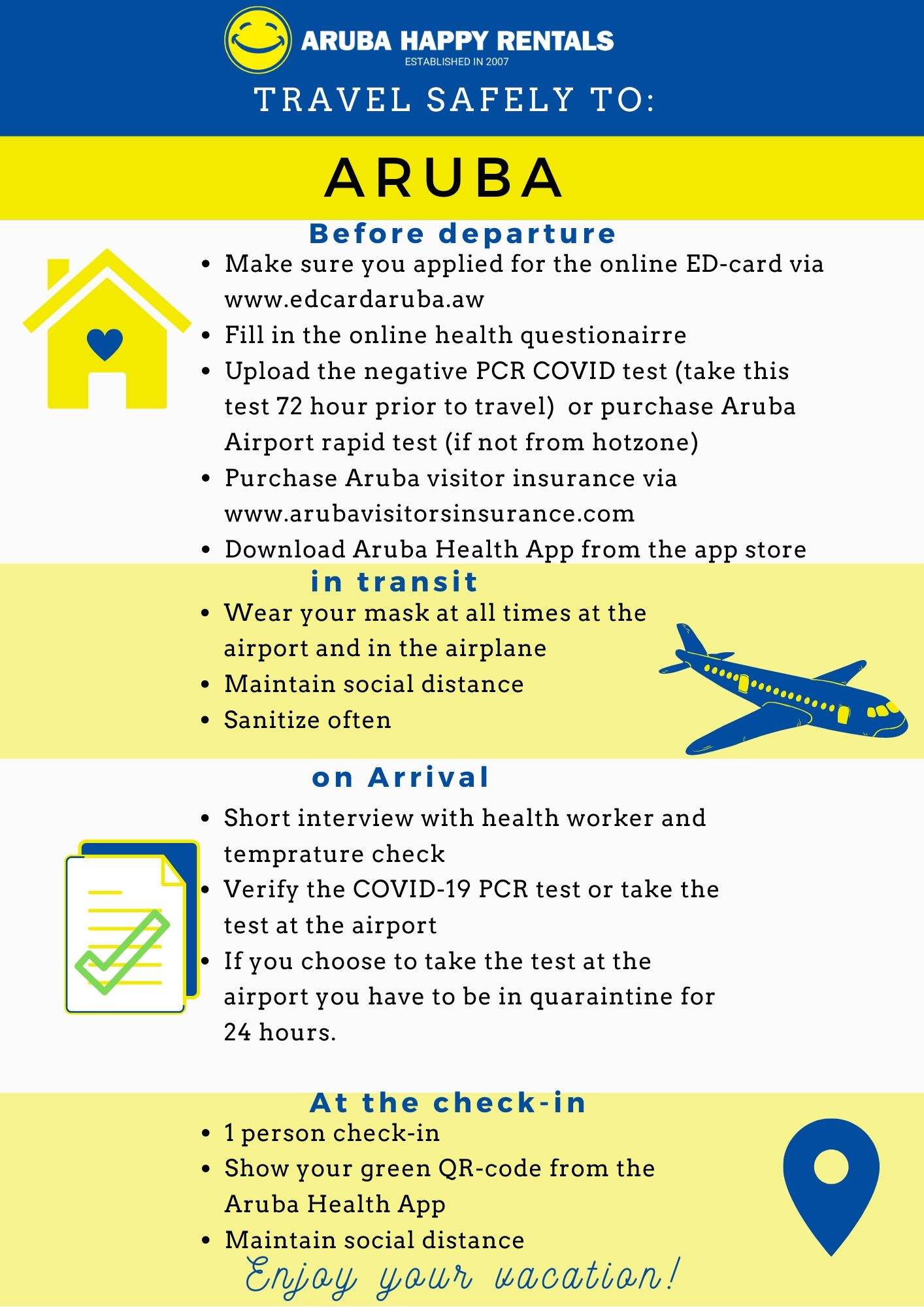 Flyer How to travel to Aruba