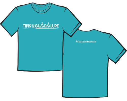 Turquoise Tipis on the Guadalupe Tshirt