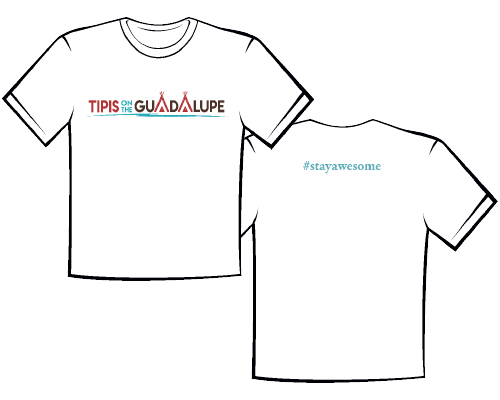 White Tipis on the Guadalupe Tshirt