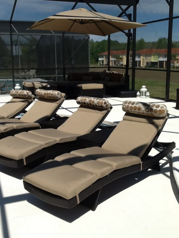 extended patio and furniture