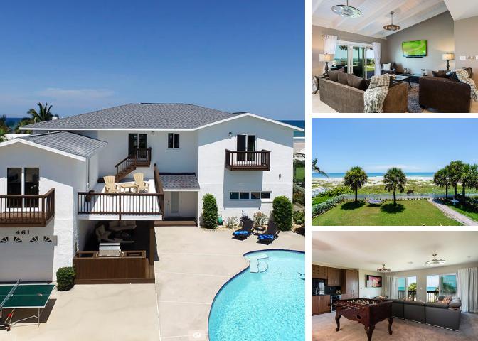 6 bedroom beach front rental home