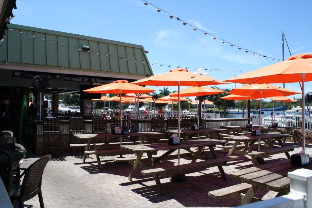 Tarpon Bay Tiki Bar overlooking the marina.