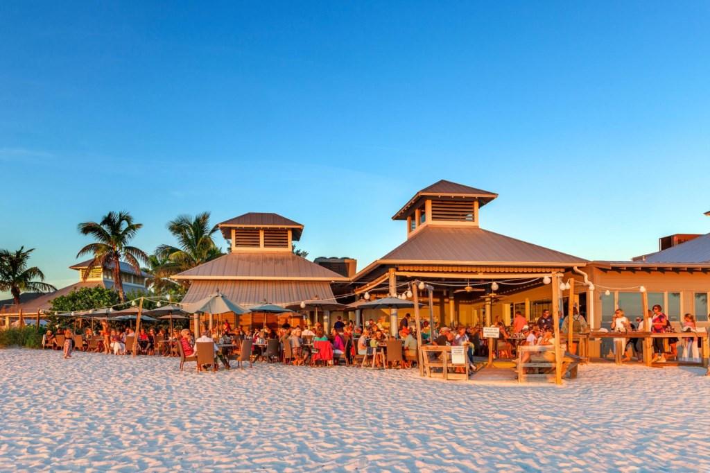 The-Sandbar Restaurant located on the beach at Anna Maria Island