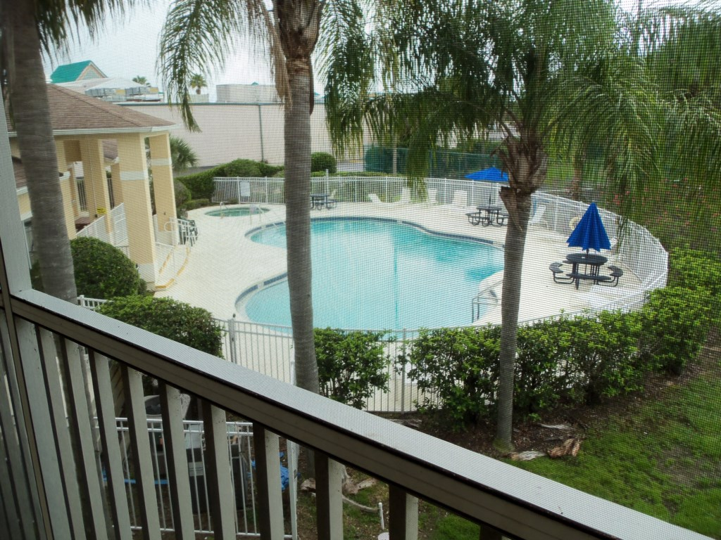 View of pool from your balcony