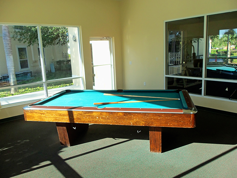 pool table - clubhouse