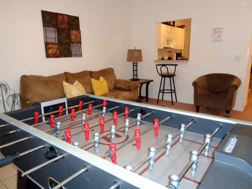 recreation room - foosball
