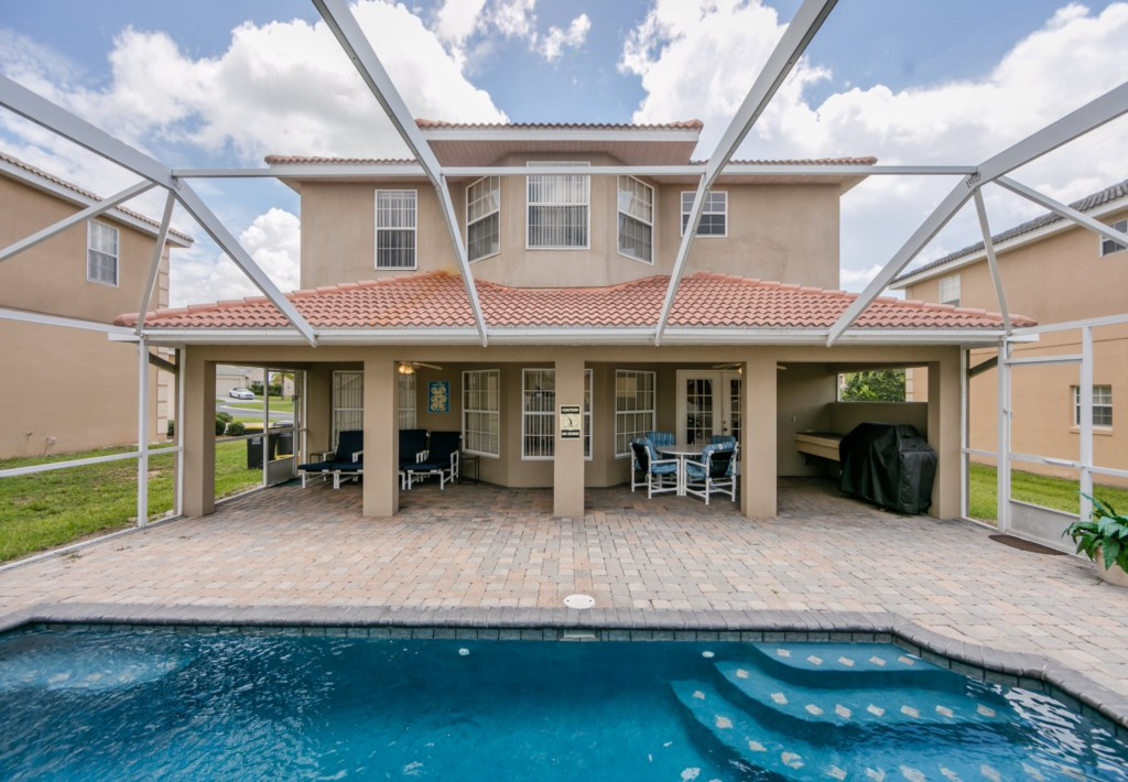 Spacious pool deck ideal for enjoying your morning coffee or cooking those family BBQ's