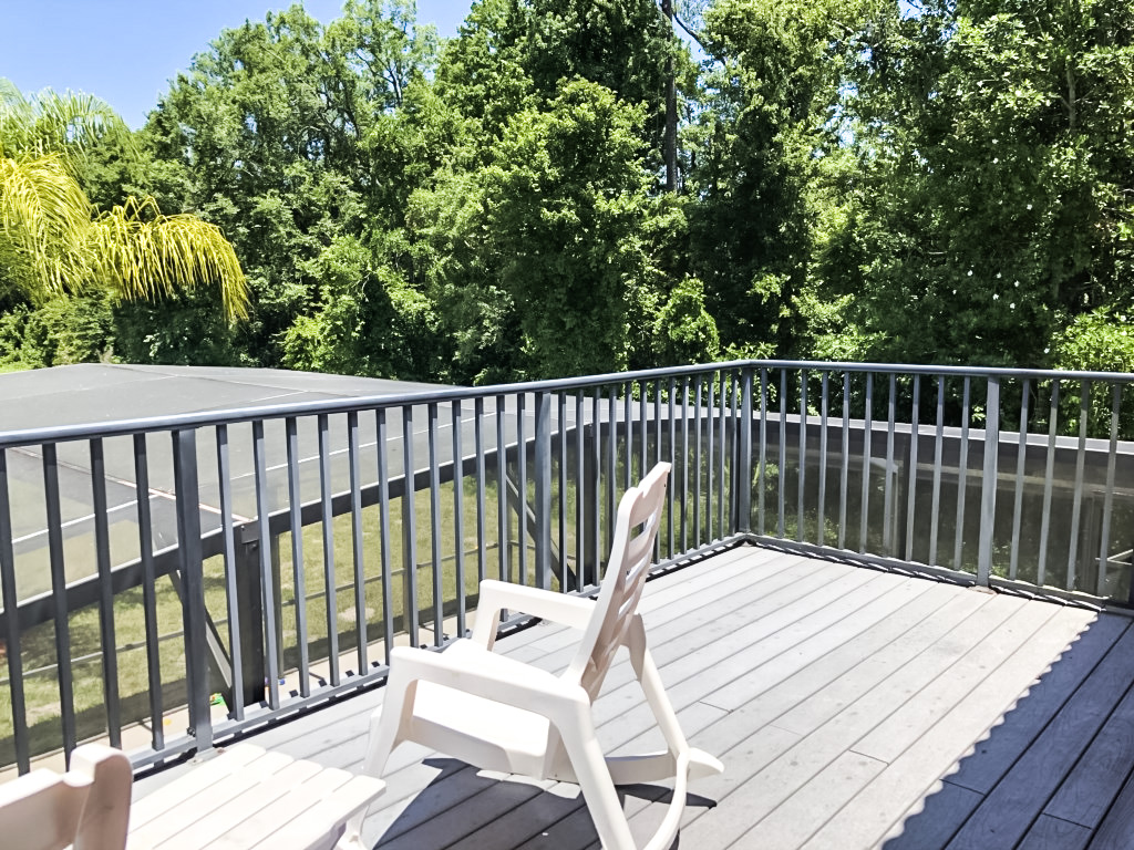 Master Bedroom, 2nd floor, private balcony with views of Pond and conservation views.