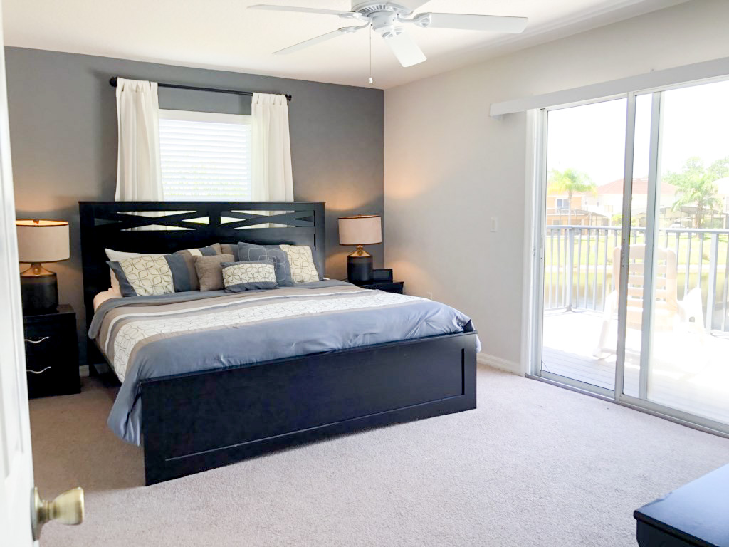 Master Bedroom, 2nd floor, private ensuite bath and private balcony